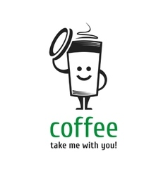Logo coffee cup vector