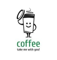 logo coffee cup vector image