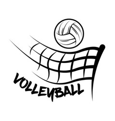 Logo volleyball made with a drawing style vector