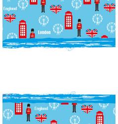 london landmarks symbols frame vector image