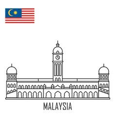 malaysia landmark sultan abdul samad palace vector image