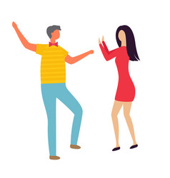 man and woman dancing club isolated couple vector image