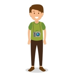 man tourist avatar character vector image