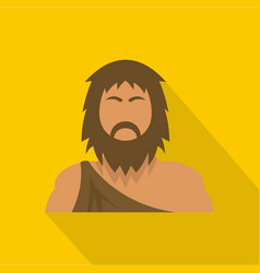neanderthal icon flat style vector image