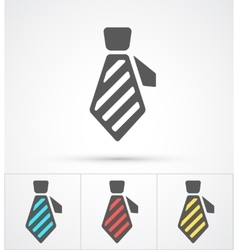 Necktie colorful flat trendy icon vector