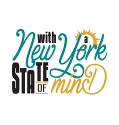 New york quotes and slogan good for t-shirt with vector