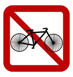 No bike sign vector