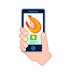 online sea food delivery service icon vector image