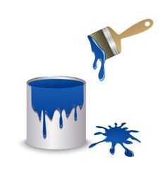 paint paintbrush and blot vector image