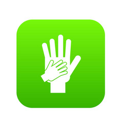 parent and child hands together icon digital green vector image