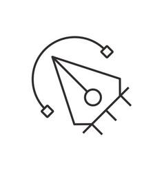 Pen tool icon design black vector