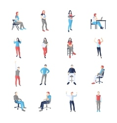 People male female in different casual common vector image