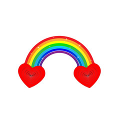 pied two heart rainbow very cool is when we vector image