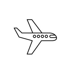 plane linear icon on white background editable vector image