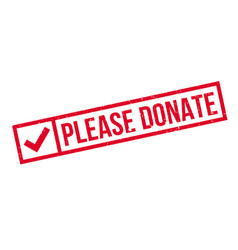 Please donate rubber stamp vector