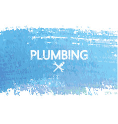 plumbing repair and service banner with abstract vector image