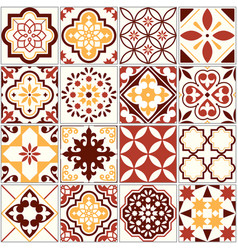 Portuguese tiles lisbon art pattern vector