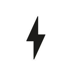 Power charging icon lightning simple vector