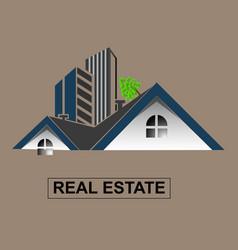 Real estate logo template design vector