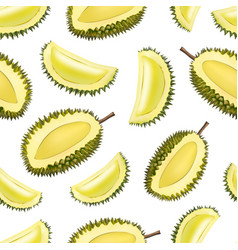 Realistic 3d detailed fruit durian seamless vector