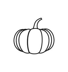 Ripe pumpkin icon outline style vector