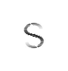 S alphabet helix shape spiral design science vector