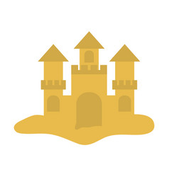 Sandcastle icon image vector