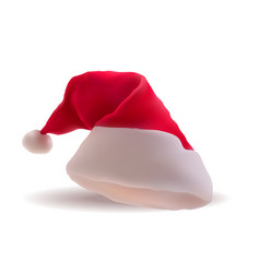 santa red christmas hat xmass vector image
