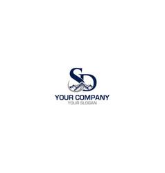 Sd real estate logo design vector