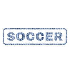 Soccer textile stamp vector