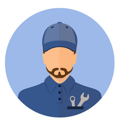 stock male car mechanic repair vector image