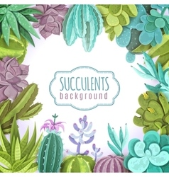 Succulents Background vector
