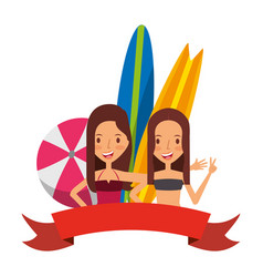summer time holiday people vector image