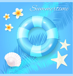 Summer time seasonal poster vector
