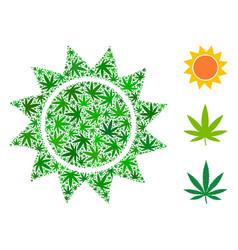 Sun mosaic of marijuana vector