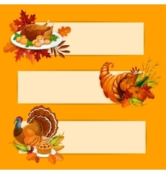Thanksgiving Day banners with copy space for text vector image