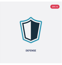 Two color defense icon from law and justice vector