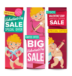 valentine s day sale banner february 14 vector image