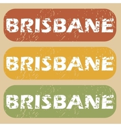 Vintage Brisbane stamp set vector