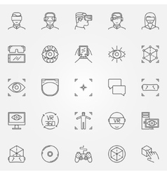 Virtual reality icons set vector