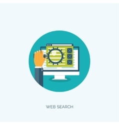 Web search Flat computing vector image