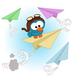 bird pilot vector image vector image