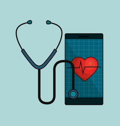 digital healthcare technology icon vector image