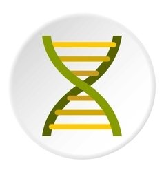 Human dna icon flat style vector