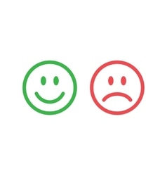 Line smile emoticons vector image vector image