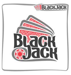 poster for blackjack vector image vector image