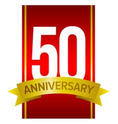 50 anniversary label vector image vector image