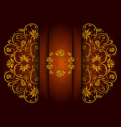 Abstract floral ornament with banner vector image vector image