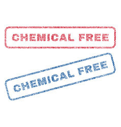chemical free textile stamps vector image vector image