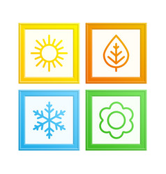 frame of seasons vector image vector image